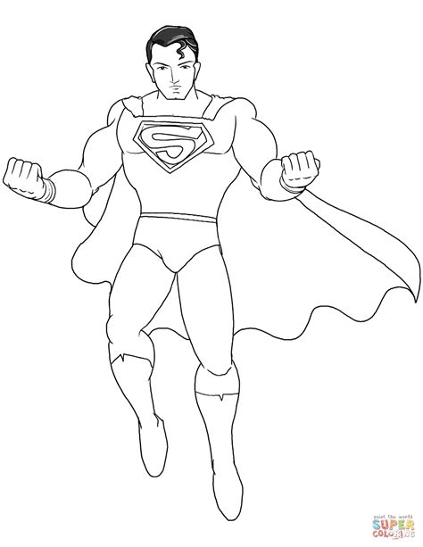 superman coloring page  printable coloring pages