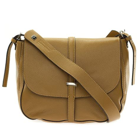 Leather Crossbody Bag by Brown Leather Crossbody Messenger Bag Made In Italy By