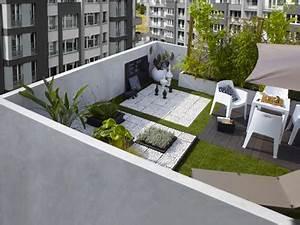 Decoration De Terrasse : deco terrasse balcon en ville ambiance zen ~ Teatrodelosmanantiales.com Idées de Décoration