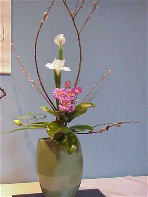 japanese style floral arrangement zen garden