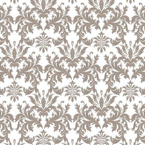 Vector Baroque Vintage Floral Damask Pattern Luxury