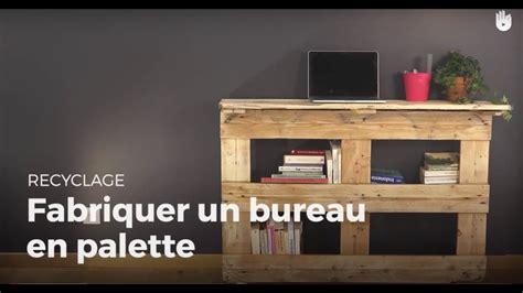 fabriquer un bureau en palette recycler