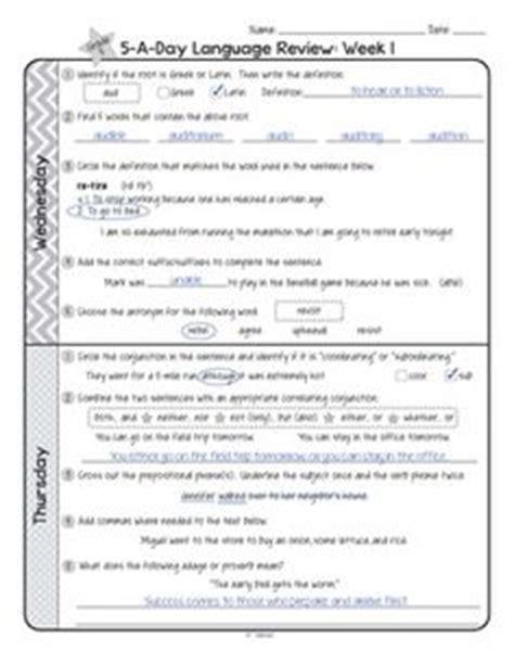 5th grade common language review