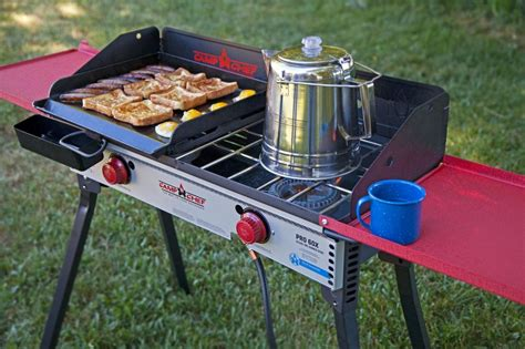 chef camp stove grill outdoor flat pro professional burner griddle cup 60x camping coffee pot grease steel stainless cooking campchef