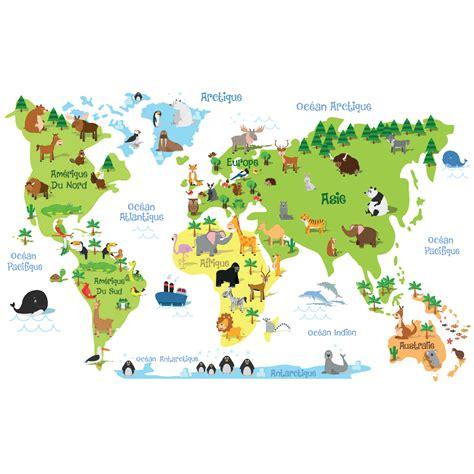 carte du monde enfant sticker carte du monde enfants stickers stickers enfants carte du monde ambiance sticker