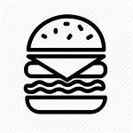 Burger Icon Menu Burgers Lunch Garlic