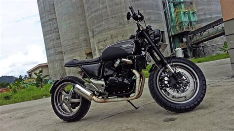 Modification Motor 250 by Suzuki Inazuma 250 Modif Scrambler Reviewmotors Co