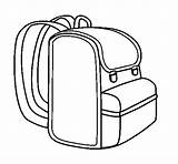 Coloring Backpack Clip Clipart sketch template