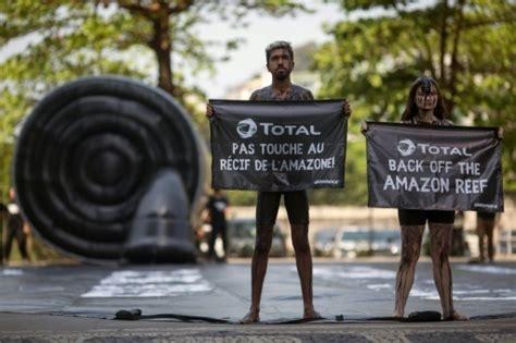 amazone siege auto récif de l 39 amazone des écologistes manifestent devant le