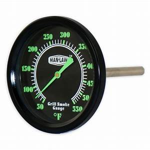 MAN LAW BBQ Series Grill/Smoker Thermometer with Glow in