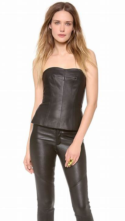 Leather Bustier Yigal