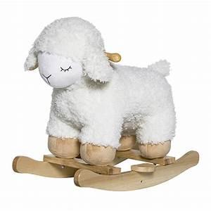 Mouton A Bascule : bloomingville mouton bascule blanc trotteur porteur bloomingville sur l 39 armoire de b b ~ Teatrodelosmanantiales.com Idées de Décoration