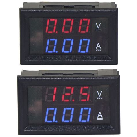 dual digital display dc voltmeter ammeter 0 100v 0 100a dual digital display dc voltmeter ammeter 0 100v 0 10a australia