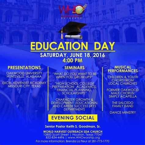 education day world harvest outreach sda church