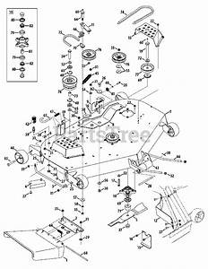 Cub Cadet Parts On The Mower Deck
