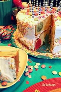 Lila Lotta com / Mit Lebensmittelfarbe kommen auch bunte Kreise in den Kuchen ;) backen für
