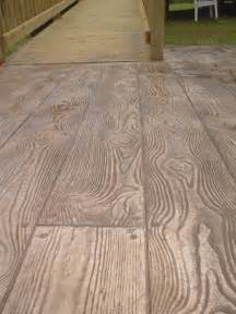 Wood Plank Stamped Concrete Pattern