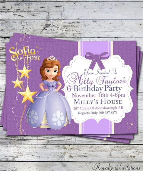 princess sofia party invites shilohmidwiferycom