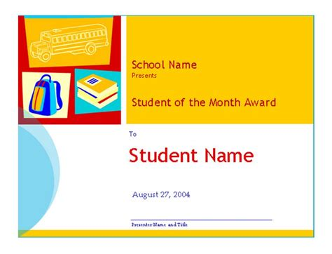 student   month template student   month