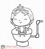Coloring Potty Toilet Training Printable Clipart Going Colouring Fun Popular Designlooter Getcolorings Library sketch template
