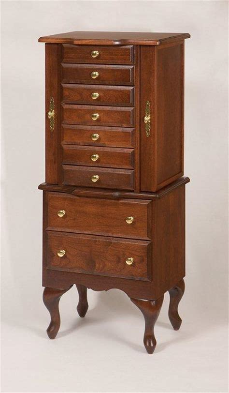 amish queen anne jewelry armoire