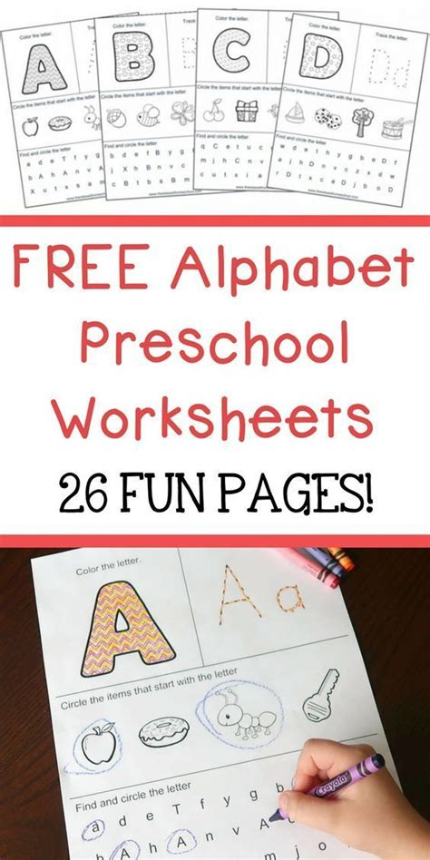 alphabet preschool printable worksheets  learn