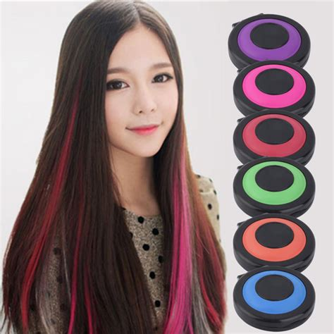 Professional 6 Colors Temporary Hair Dye Powder Cake
