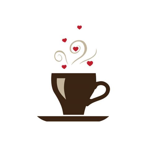 Clip arts related to : Silhouette Of The Red Coffee Cup Heart Shaped Illustrations, Royalty-Free Vector Graphics & Clip ...