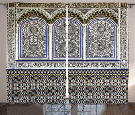 moroccan pattern curtain panels moroccan architecture mosaic wall image detailed patterns