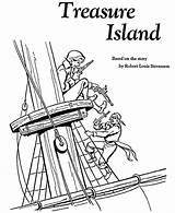 Coloring Treasure Island Pages Stories Story Sheets Adventure Xxx Pirate Printable Robert Louis Silver John Reading Stevenson Honkingdonkey Buried Grade sketch template