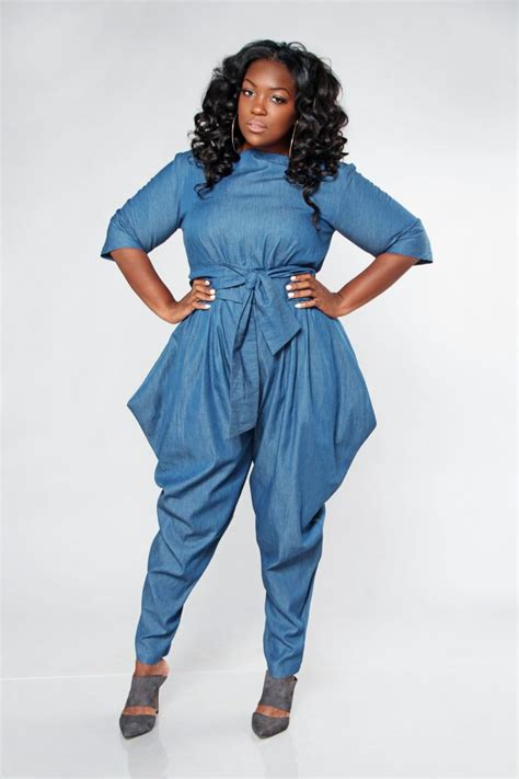 jumpsuit plus size jibri plus size denim boat neck jumpsuit by jibrionline on