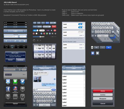 ios app templates an ios 6 uikit template for sketch app bryan clark