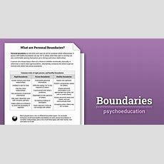 Boundaries Info Sheet (worksheet)  Therapist Aid