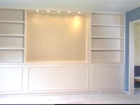 how to build a built in bookcase with doors built in bookcases hgtv
