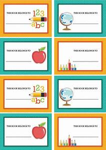 free back to school party printables from sarah hope With free school labels template