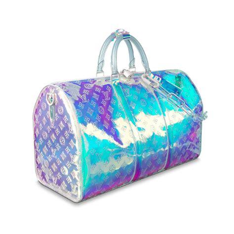 louis vuitton prism bandouliere keepall   virgil abloh iridescent bag handbagholic