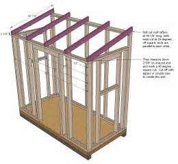 6 X 8 Pent Shed Plans by Ana White Shed Chicken Coop Diy Projects