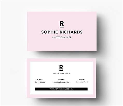 pink business card templates ai pages psd