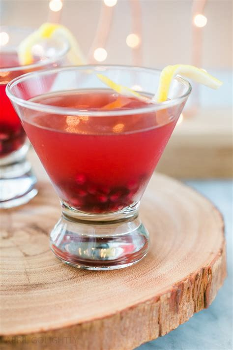 sassy ginger pomegranate martini bold cocktail  parties