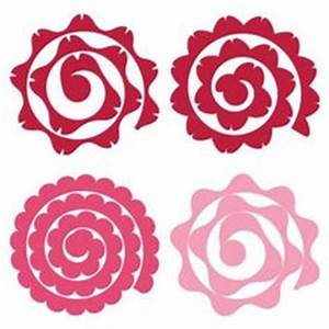 rolled flower svg free svg files free pinterest With rolled paper roses template