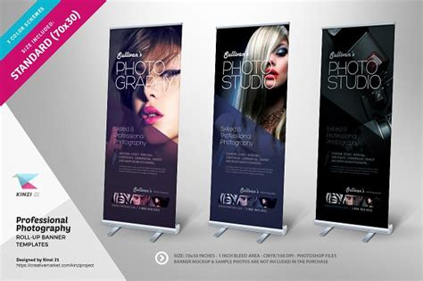 photography roll  banners flyer templates creative