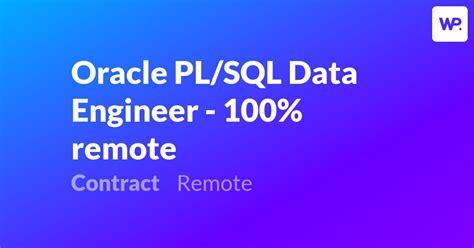 oracle plsql data engineer  remote remote