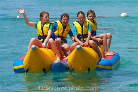 Banana Boat Girl by Children On Banana Boat Plantation Island Resort Malolo