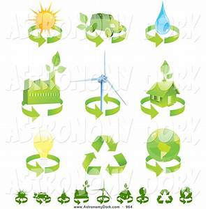 Clip Art of a Collection of Green Eco Friendly Energy ...
