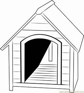 Small Dog House Coloring Page - Free Dog House Coloring ...