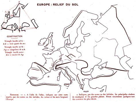 Carte Des Reliefs De à Compléter by Carte Vierge Des Reliefs De L Europe My