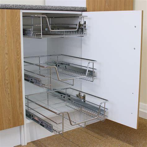 pull  kitchen wire baskets   storage cupboard