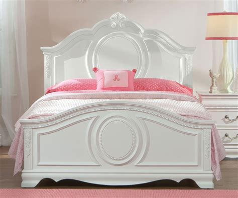 Classic White Painted Mahogany Wood Full Bed Frame With