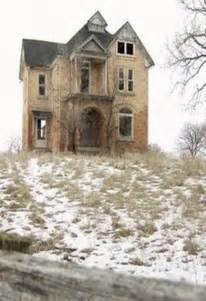 Abandoned Farm House On Hill