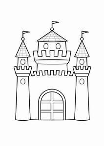Kostenlose Malvorlage Prinzessin Prinzessinnenschloss